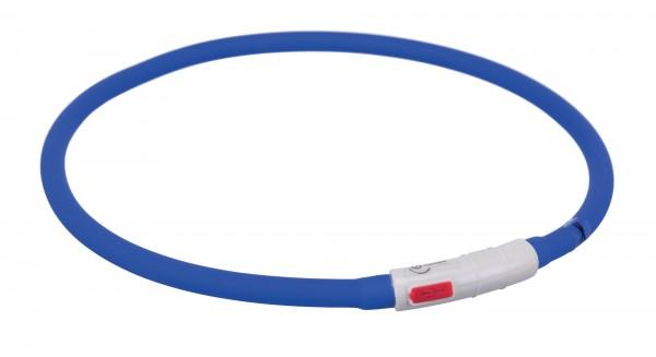 Trixie USB Flash Hunde Halsband Leuchtring, Silikon, XS-XL: 70 cm/ø 10 mm