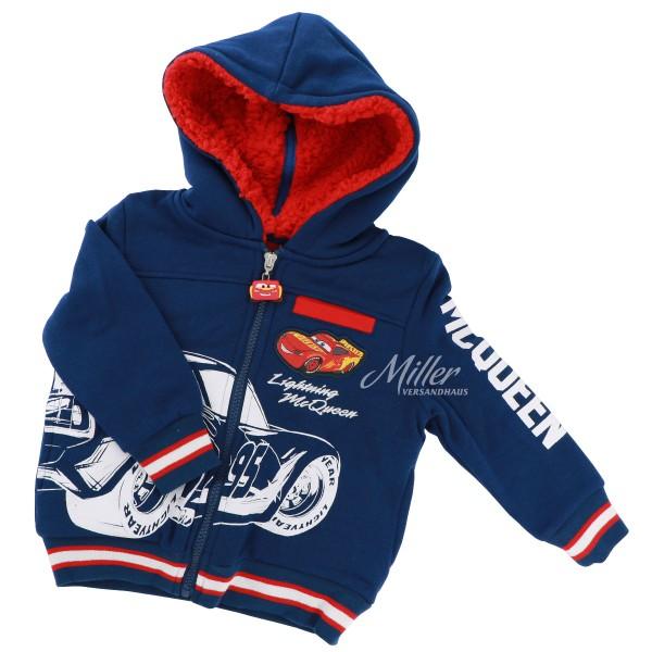 Disney Cars Jungen Sweat-Kapuzenjacke mit Lightning McQueen, dunkelblau