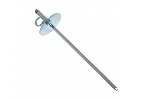Anlegepflock zum Einschlagen, Bodenanker L, 38 cm/ø 10 mm