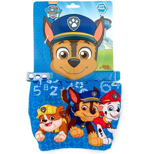 Paw Patrol Schlauchschal für Jungen mit Rubble Chase & Marshall, blau/rot