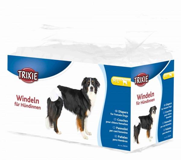 Trixie Windeln für Hündinnen, Hundewindeln, Einwegwindeln, M-L, 12 Stück