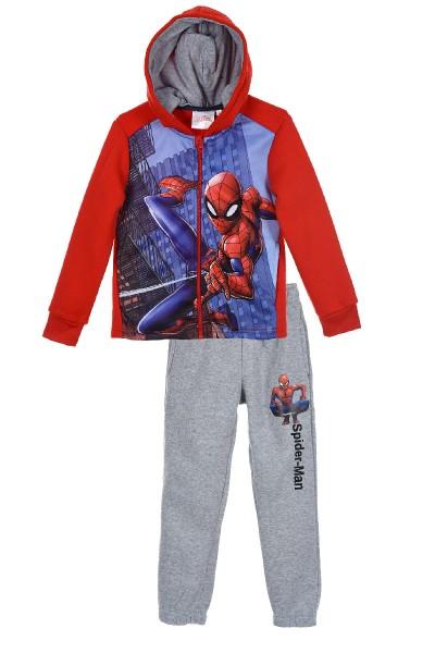 Spider-Man Jungen Jogginganzug Sweatjacke Sweathose, 2-teilig, rot