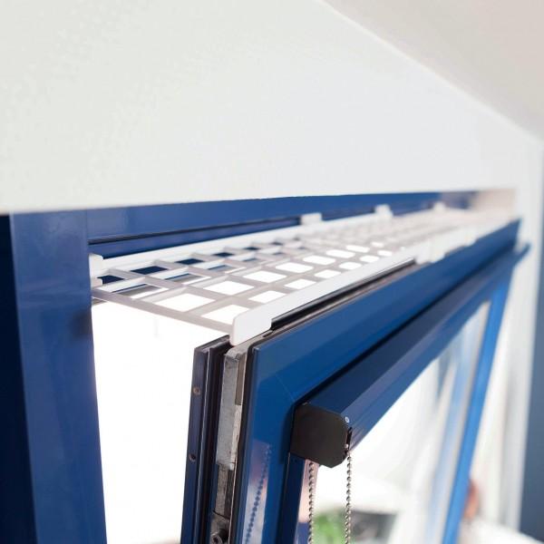 Trixie Schutzgitter für Fenster, oben/unten, ausziehbar, 75-125 x 16 cm, weiß
