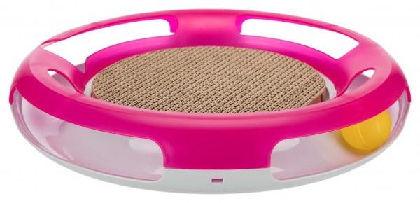 Trixie Race & Scratch Spielzeug für Katzen, rutschfest, pink, ø 37 cm