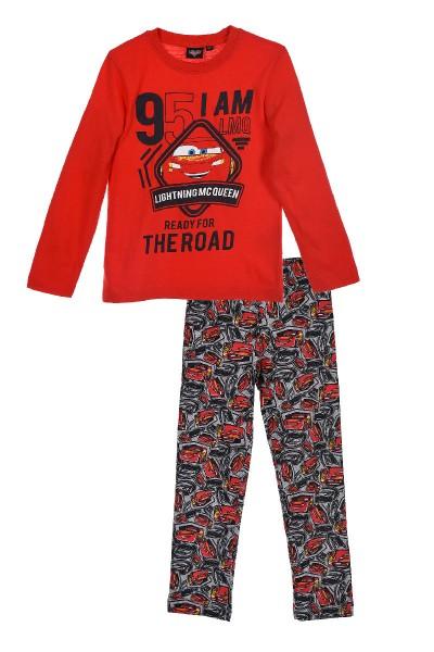 Disney Cars Kinder Schlafanzug mit Lightning McQueen Motiv, 2-teilig, rot