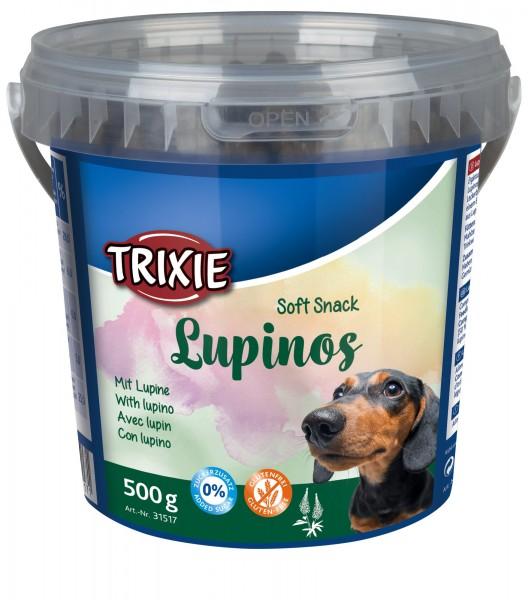 Trixie Soft Snack Lupinos für Hunde, glutenfrei, 500 g Eimer