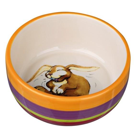 Trixie Keramiknapf, Kaninchen, 250 ml/ø 11 cm, bunt/creme