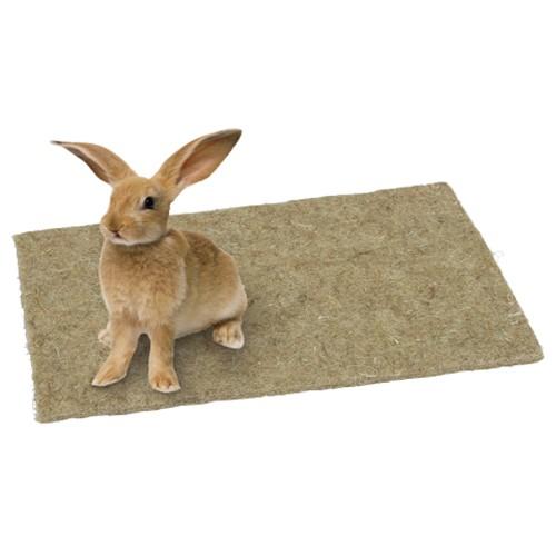 Hanf Nagerteppich Streuunterlage 40x25x1 cm, Nagerfloor, Ruheplatz für Ihr Heimtier