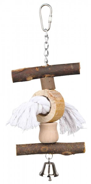 Trixie Natural Living Vogelspielzeug mit Tau/Glocke, 20 cm