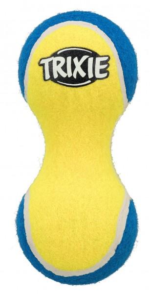 Trixie Hundespielzeug Tennishantel, 15 cm, schwimmt