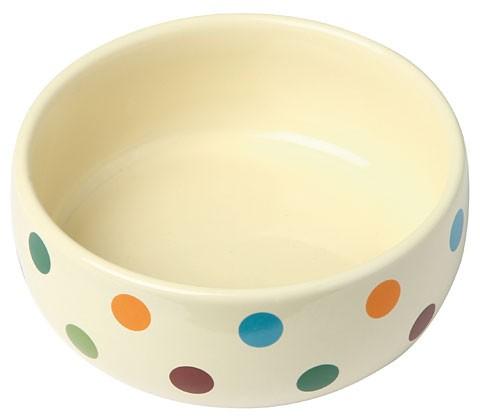 Kerbl Keramiknapf Dots, glasiert - 300 ml