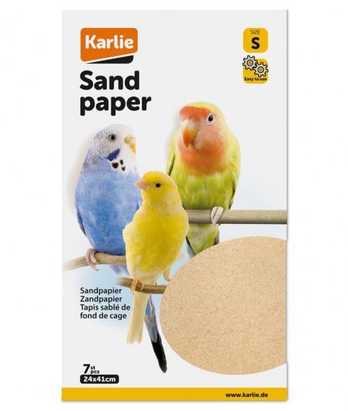 Sandpapier S: 24 x 41 cm, 7 Blatt, Sandboden, Vogelsandteppich