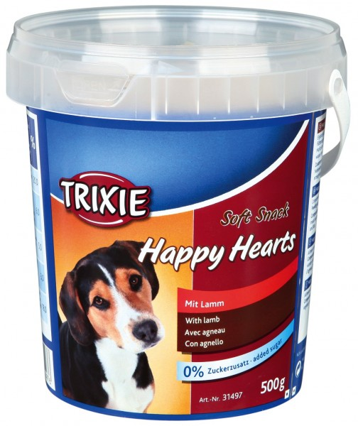 Trixie Soft Snack Happy Hearts 500g Eimer