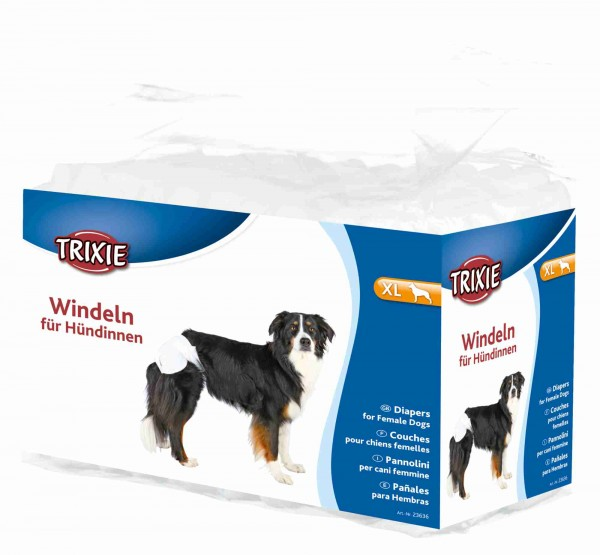 Trixie Windeln für Hündinnen Hundewindeln, XL, 40-58 cm, 12 Stück