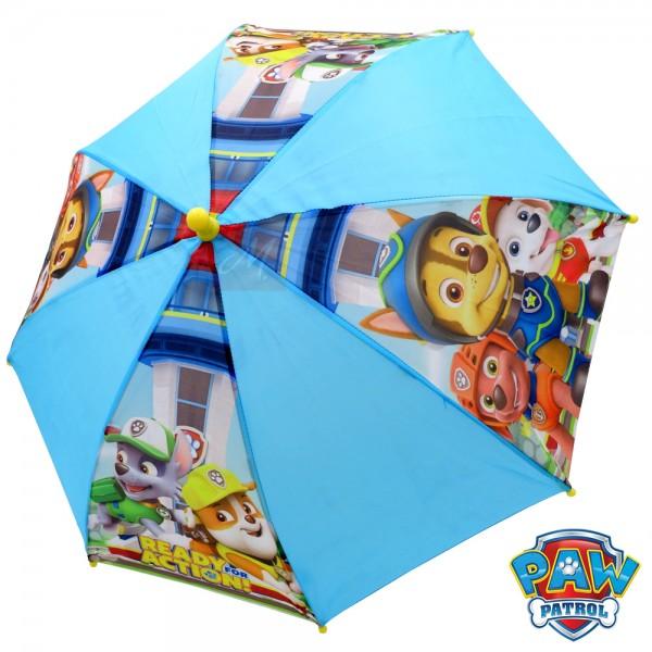 """Regenschirm für Kinder """"Paw Patrol"""" Stockschirm, 69 cm, blau/gelb, Polyester"""
