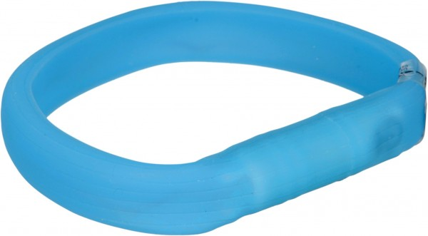 USB Flash Leuchtband für Hunde, blau, Silikon, XS-S, 35cm/15 mm