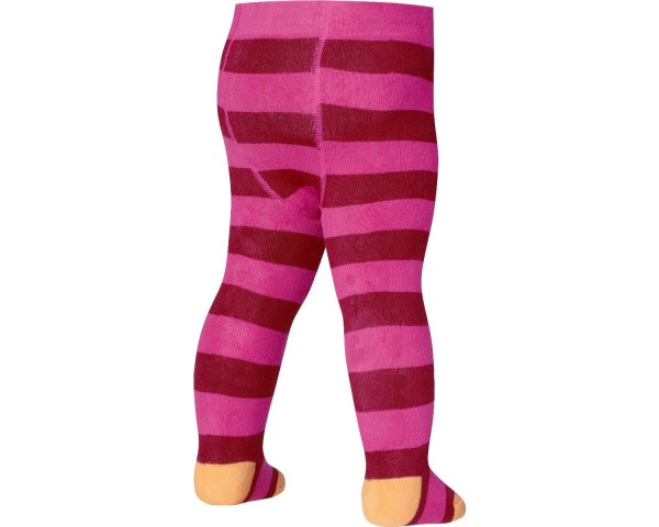 Playshoes Kinder Thermo Strumpfhose mit Block-Ringel, pink