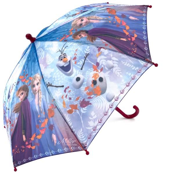 """Disney """"Frozen 2"""" Kinder Regenschirm Stockschirm mit Motiv, Ø 65 cm, blau-lila"""