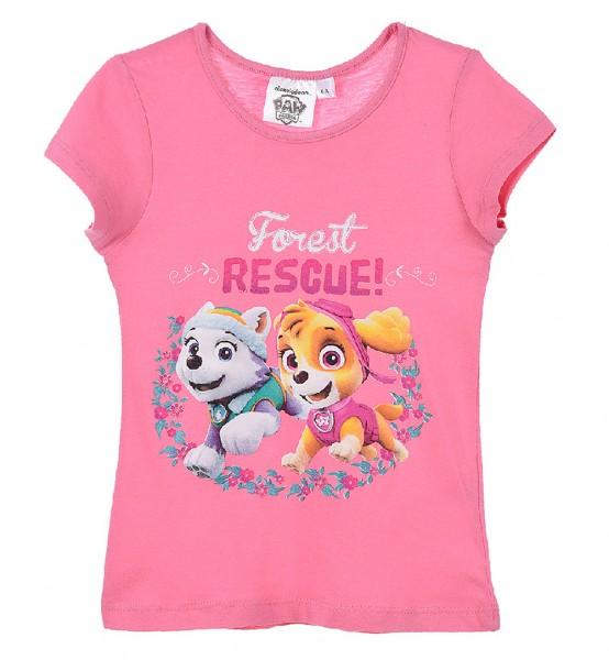 Paw Patrol Mädchen T-Shirt mit Everest & Skye, pink