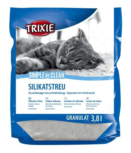 Trixie Katzenstreu Simple N Clean Granulat 3,8 Liter, Silikatstreu