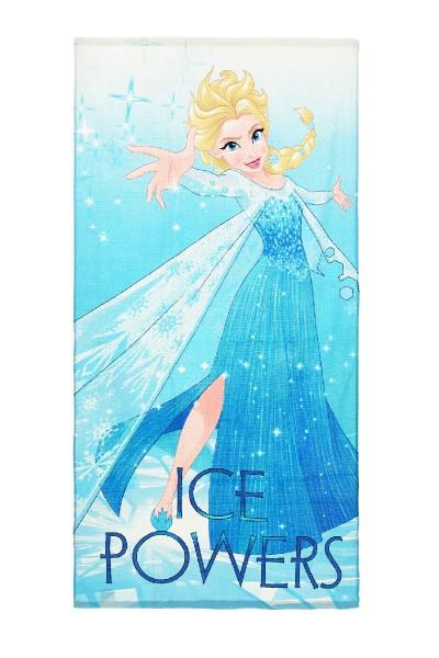 "Disney Frozen Kinder Strandtuch mit Elsa Motiv ""Ice Powers"", 70x140 cm, blau"