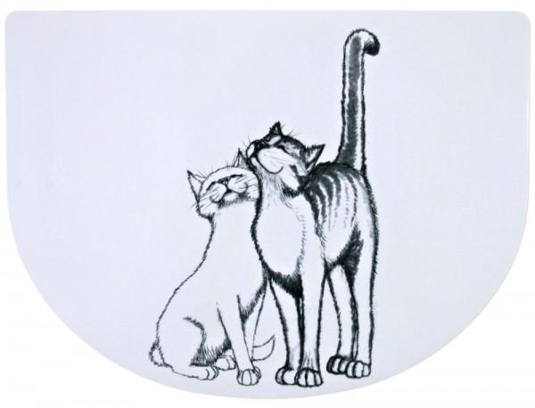 Trixie Napfunterlage Schmusekatzen, 40x30 cm, weiß