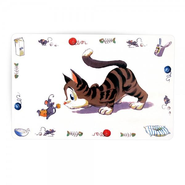 Trixie Napfunterlage Comic-Katze, 44x28 cm