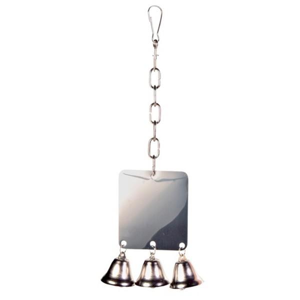 Trixie Metallspiegel mit 3 Glocken - 8x7cm
