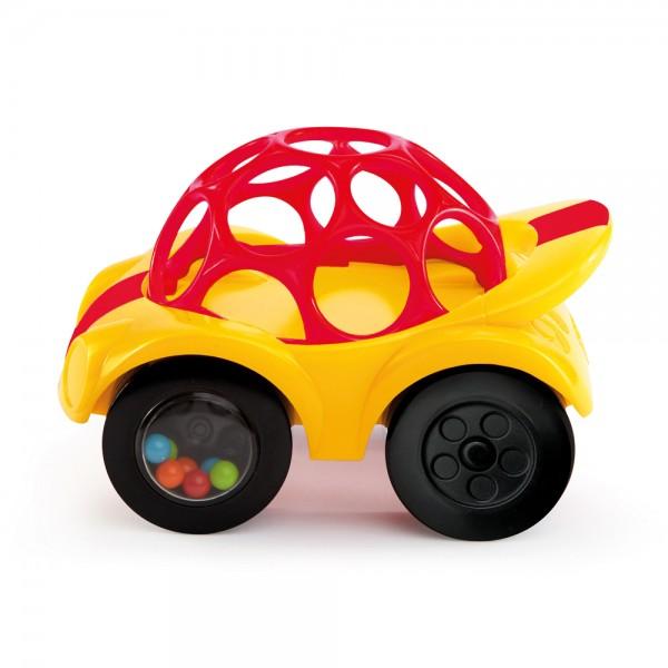 Oball Rattle & Roll - Spielzeugauto mit Rassel für Babys ab 3 Monate, diverse Farben