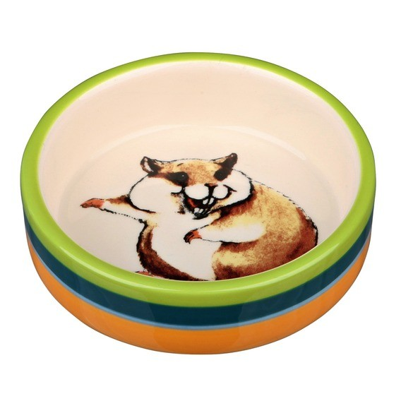 Trixie Hamsternapf, Keramik, 80 ml/ø 8 cm, bunt/creme