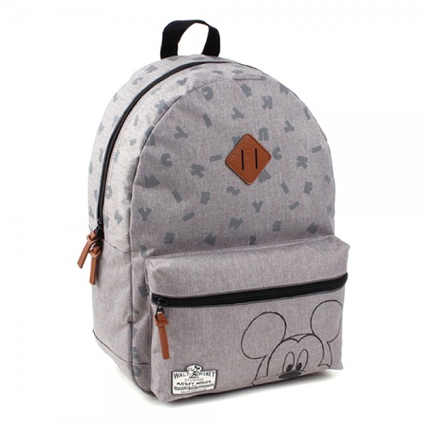 Disney Mickey Mouse 90th Anniversary - Rucksack, 39x29x12cm, Polyester, Grau