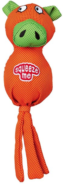 Schwein mit Quietscheball, Polyester, Hundespielzeug, 30 cm, 1 Stück
