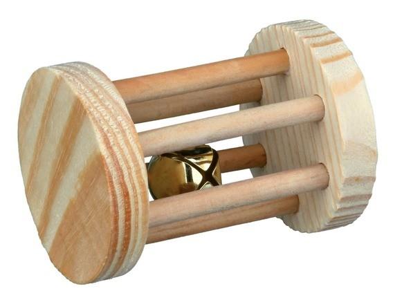 Spielrolle, Kleintiere, Holz, ø 5 × 7 cm
