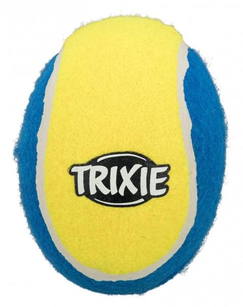 Trixie Hundespielzeug Tennisrugby, 17 cm, schwimmt