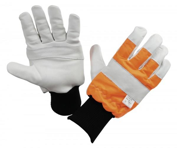 Kettensägenhandschuh Logger, Motorsägen-Handschuhe, links geschützt, 1 Paar
