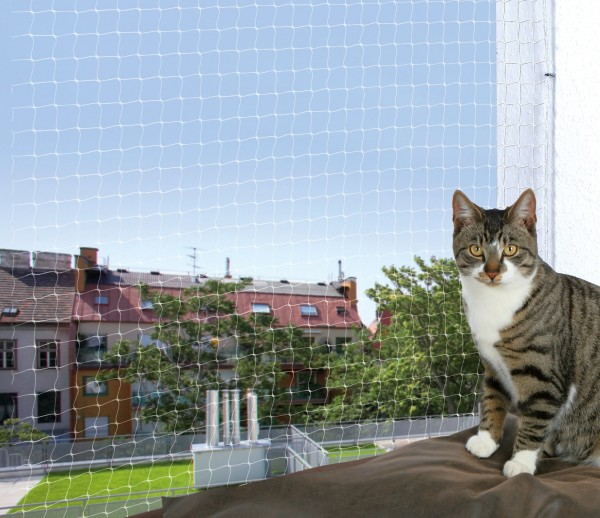 Trixie Cat Protect Schutznetz - 2 x 1,5 m, Nylon, transparent