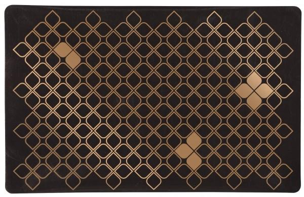 Trixie Napfunterlage - 44x28 cm, PVC, braun/bronze