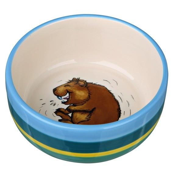 Keramiknapf, Meerschweinchen, 250 ml/ø 11 cm, bunt/creme