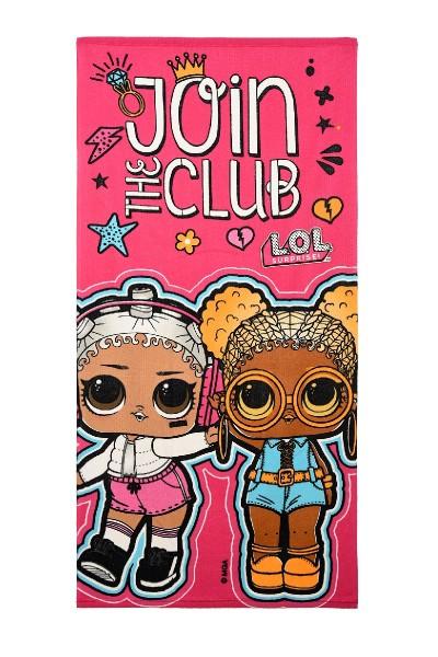 "L.O.L Surprise Kinder Badetuch Strandtuch ""Join the Club"", 70 x 140 cm, pink"