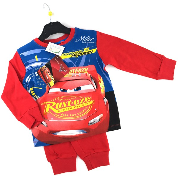 Disney Cars Jungen Schlafanzug mit Lightning McQueen, 2-teilig, rot