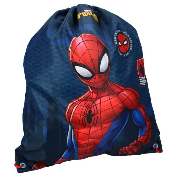 Spider-Man Kinder Turnbeutel mit Motiv, 44 x 37 cm, navy
