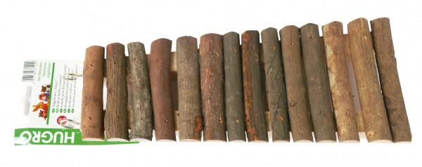 Hugro Nagerleiter Trapez aus Naturholz, mit Haken, Länge 30cm, Breite 13/9cm