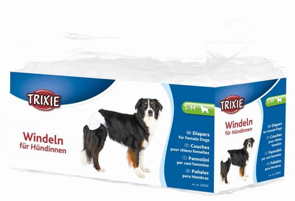 Trixie Windeln für Hündinnen Hundewindeln, S-M, 28-40 cm, 12 Stück