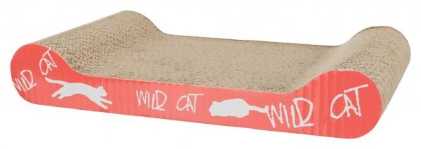 Trixie Kratzpappe Wild Cat mit Catnip, Pappe, 41x7x24 cm, diverse Farben