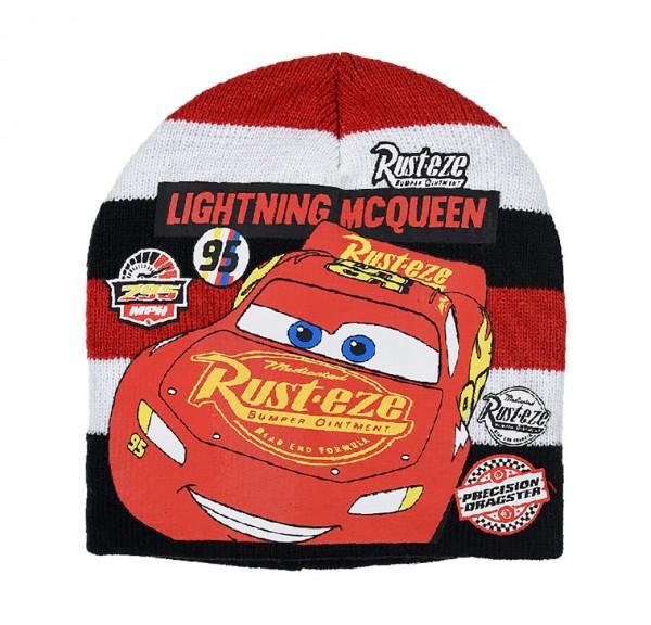 Disney Cars Kinder Strickmütze mit Lightning McQueen Motiv, rot