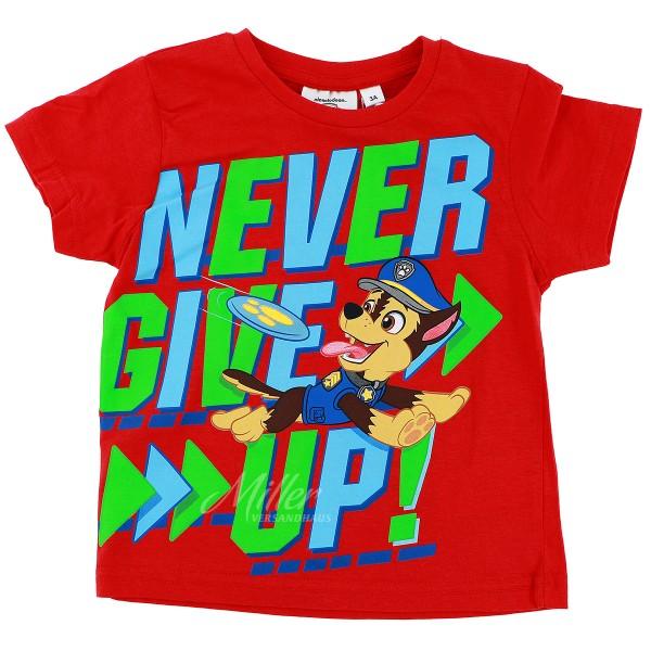 Paw Patrol Jungen T-Shirt mit Chase Motiv, rot