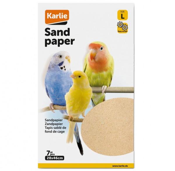 Sandpapier L: 28 x 46 cm, 7 Blatt, Sandboden, Vogelsandteppich