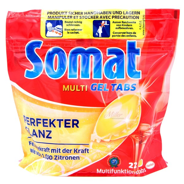 Somat Multi-Gel Spülmaschinentabs, Lemon, 22 Tabs