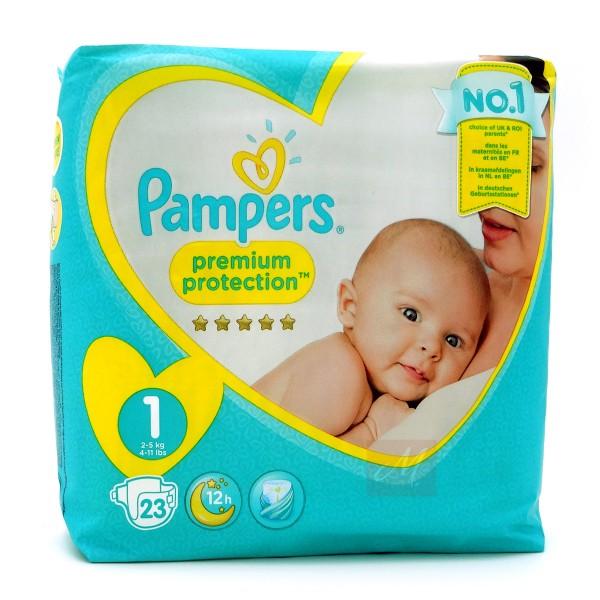 Pampers Premium Protection New Baby Windeln, Größe 1, 2-5 kg (1x 23 Stück)
