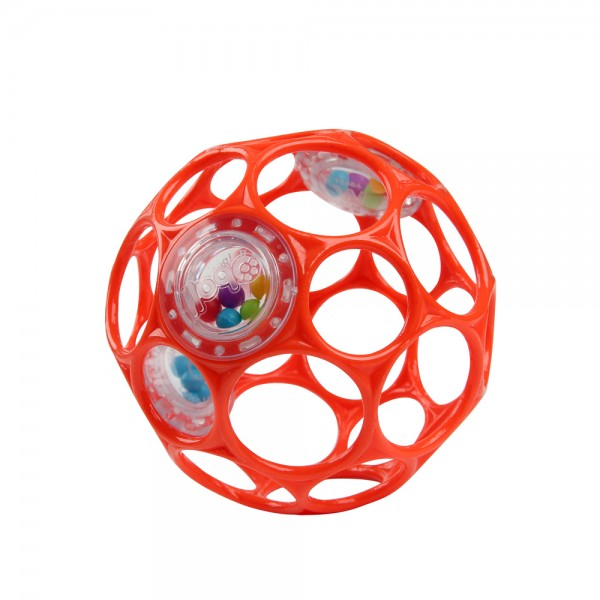 Oball Rattle 10 cm - Rot, Greifball mit Rassel, Spielzeug für Babys ab 0+ Monate